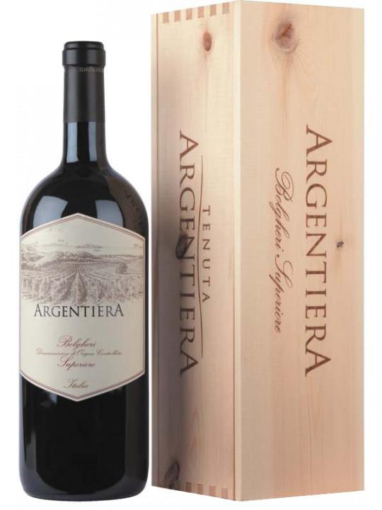 Вино Argentiera Bolgheri Superiore DOC, wooden box 2006 1.5 л