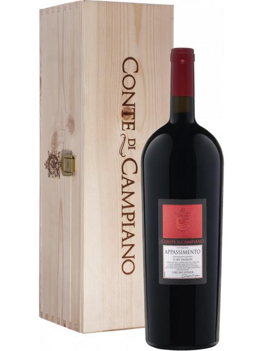 Вино Conte di Campiano Appassimento, Puglia IGT, wooden box 2015 1.5 л