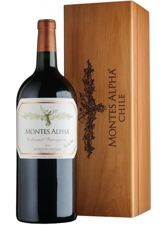 Вино Montes, Alpha Cabernet Sauvignon, wooden box 2011 1.5 л