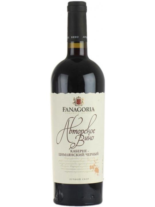 Вино Фанагория, Авторское Вино Каберне-Цимлянский Черный 0.75 л
