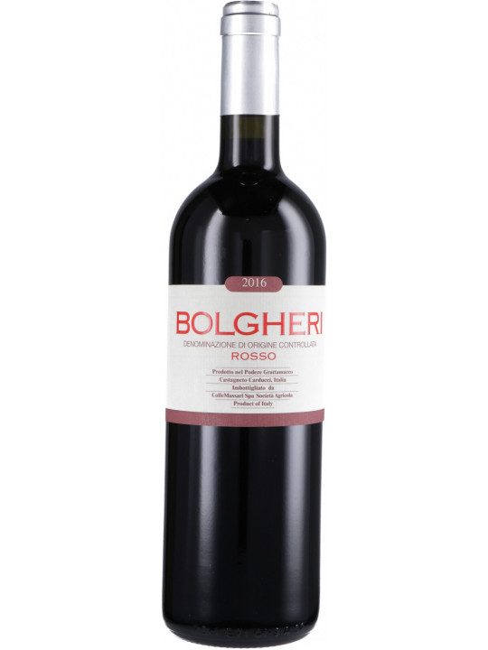 Вино Grattamacco, Bolgheri Rosso DOC 2016 0.75 л